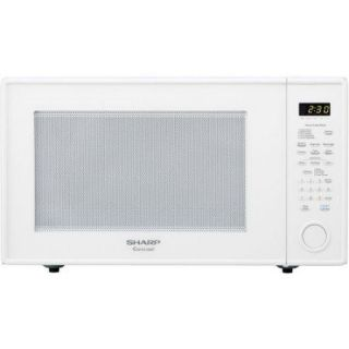 Sharp 2.2 Cu.ft 1200w Full size Countertop Microwave   Single   2.20 Ft   1.20 Kw   Smooth White (r659yw)