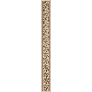 Milliken Cream Tufted Runner (Common: 2 ft x 22 ft; Actual: 2.333 ft x 40.333 ft)