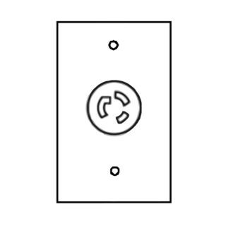 """ICI 24"""" x 24"""" Electrical Outlet&#x3b; For Use With Overhead Service Panel   45MN37