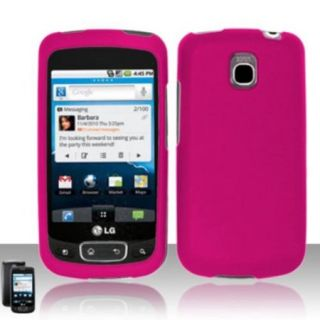 Insten For LG Optimus T/Thrive/Phoenix P509/P505 Rubberized Hard Protector Case   Rose Pink