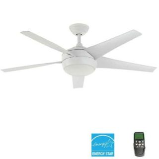 Home Decorators Collection Windward IV 52 in. Matte White Ceiling Fan 26662