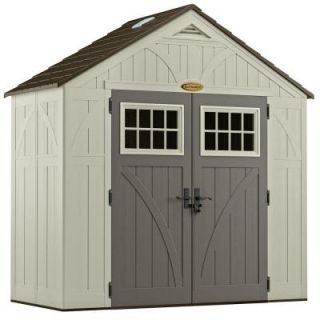 Suncast Tremont 4 ft. 3/4 in. x 8 ft. 4 1/2 in. Resin Storage Shed BMS8400