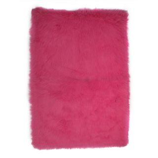 Hot Pink Polyester Area Area Rug (32 x 48)   16721452