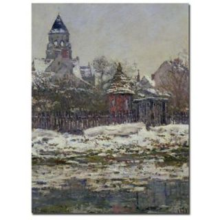 Trademark Fine Art 35 in. x 47 in. The Church at Vetheuil 1879 Canvas Art BL0078 C3547GG