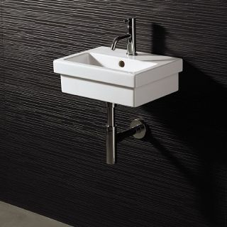 Bissonnet 21130 Logic 40 Wall Mount Ceramic Bathroom Sink