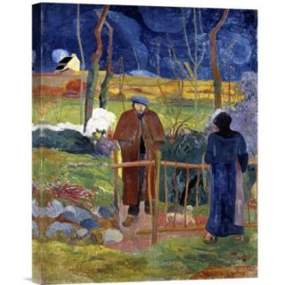 Global Gallery Bonjour, Monsieur Gauguin by Paul Gauguin Painting Print on Wrapped Canvas