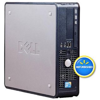 Refurbished Dell Black 760 Desktop PC with Intel Core 2 Duo Prcessor, 4GB Memory, 1TB Hard Drive and Windows 7 Professional (Monitor Not Included)