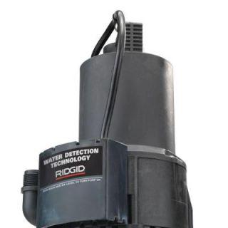 RIDGID 1/4 HP Submersible Auto On/Off Utility Pump TPA 250
