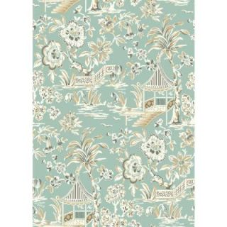 York Wallcoverings 60.75 sq. ft. Tropics Tahiti Scenic Wallpaper AT7036