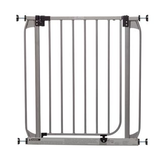 Dreambaby Dawson Auto Close with Stay Open Feature 32 in x 30 in Silver Metal Child Safety Gate