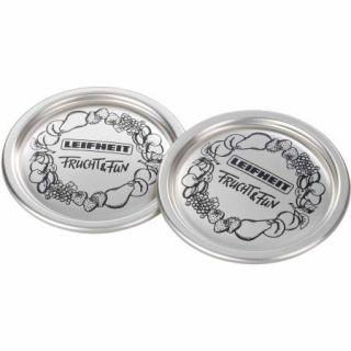 Leifheit Classic Wide Mouth Mason Jar Canning Lids, Gold