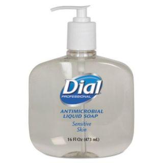 Antimicrobial Soap for Sensitive Skin, 16oz Pump Bottle, 12/Carton