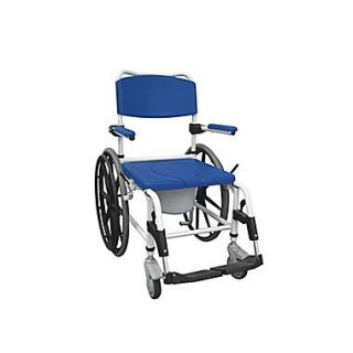Drive Medical Aluminum Shower Commode Mobile Chair, Wheelchair
