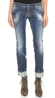 DSQUARED2 Sexy Roll Up Flare Jeans