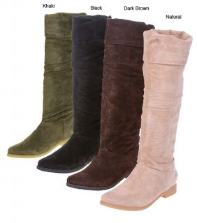 On Your Feet Maldives Womens Tall Suede Flat Boots