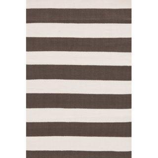 Indoor/Outdoor ICatamaran Brown/Cream Striped Outdoor Area Rug by Dash