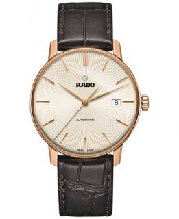 Rado Mens Swiss Automatic Coupole Classic Dark Brown Leather Strap