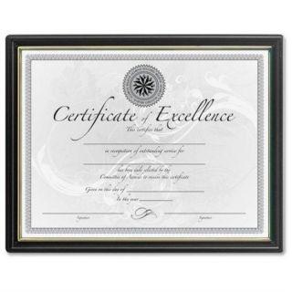 "Dax Black & Gold Certificate Frames   8.50"" X 11"" Insert   Plastic   Black (N1188N5)"