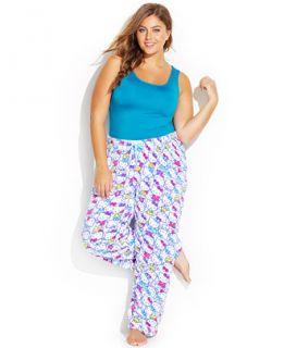 Hello Kitty Plus Size Spendid Colors Plush Pajama Pants   Bras