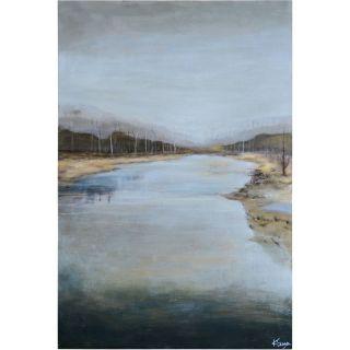 Ren Wil OL1426 Mountain Stream Canvas Wall Art in Matt Light Grey
