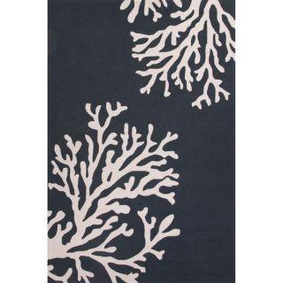 Handmade Abstract Pattern White/ Blue Polypropylene Area Rug (5 x 76