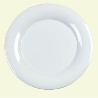 Carlisle 12.0 in. Diameter Melamine Wide Rim Dinner/Display Plate in White (Case of 12) 4302402