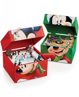 Mr. Christmas Mickey Music Box Collection   Holiday Lane   For The