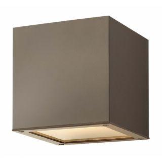 Hinkley Lighting 1766 Kube 1 Light Energy Efficient CFL Outdoor Wall Sconce
