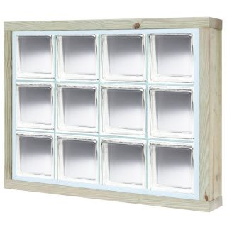 Pittsburgh Corning LightWise Hurricane Resistant Vue Wood New Construction Glass Block Window (Rough Opening: 75.125 in x 35.75 in; Actual: 74.125 in x 34.75 in)