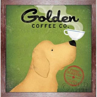 Buy Art For Less Golden Dog Coffee Company by Ryan Fowler Framed