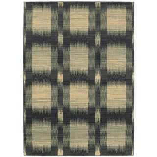 LNR Home Antigua Blue Checkered Area Rug (92 x 126)   16464625