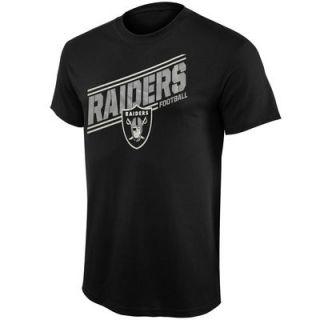 Oakland Raiders Majestic Rival Vision V T Shirt   Black