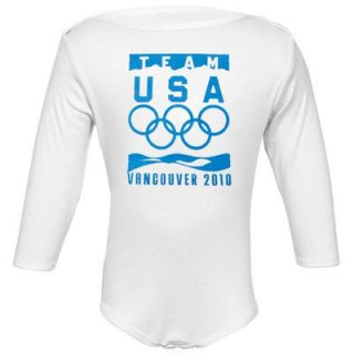 2010 Winter Olympic Games Team USA Infant White Official Logo Long Sleeve Creeper