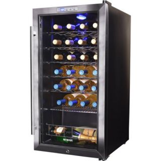 NewAir AWC 270E 27 Bottle Compressor Wine Refrigerator, Stainless Steel and Black