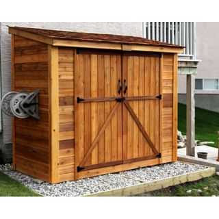 SpaceSaver 8 Ft. W x 4 Ft. D Garden Shed with Double Doors by Outdoor