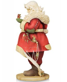 Heart of Christmas Santa Having Coat Tailored Collectible Figurine