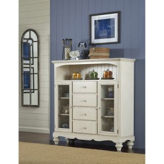 Hillsdale Furniture 5265 854 Pine Island Four Drawer Baker s Cabinet in Old White