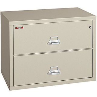 FireKing 1 Hour 2 Drawer 38 Fire Resistant Lateral File Cabinet Parchment, Truck to Loading Dock