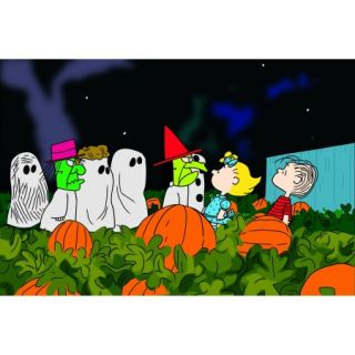 "Marmont Hill ""Peanut Gang Trick or Treating"" Peanuts Print on Canvas"