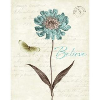 Slated Blue IV Believe Poster Print by Katie Pertiet (22 x 28)