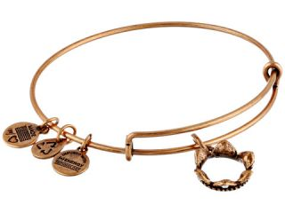 Alex And Ani Queens Crown Charm Bangle Rafaelian Gold Finish, Gold