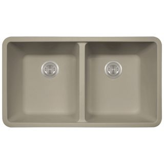 Durable EDDB33229 1 Granite Undermount/Self Rimming Double Bowl Sink