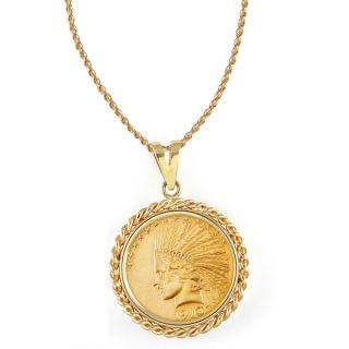 American Coin Treasures 14k Gold $10 Indian Head Gold Piece Eagle Coin
