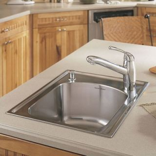 American Standard Culinaire 22 x 18 Self Rimming Top Mount Island