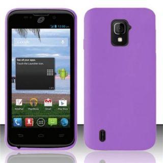 Insten For ZTE Majesty Z796c StraightTalk Silicon Skin Premium Case Purple SC