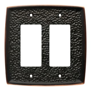 Brainerd 2 Gang Bronze with Copper Highlights Decorator Wall Plate