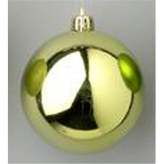Queens of Christmas WL ORN BLKS 80 SG W 80mm Shiny Sage Green Ball Ornament with Wire   Pack of 12