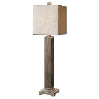 Uttermost 29576 1 Sandberg 1 Light Buffet Lamp in Solid Wood Base Brushed Nickel