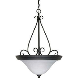 Castillo 19 in Textured Black Single Bell Pendant