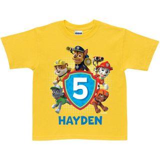 Personalized PAW Patrol Pawesome Birthday Yellow Boys' T Shirt
